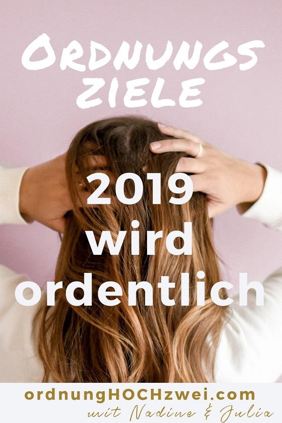 Ordnungziele - neues Jahr - neue Ordnung